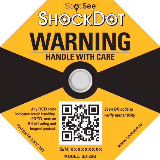 Spotsee Shokwatch Shockdot label