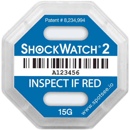 Spotsee Shockwatch 2 schokindicator