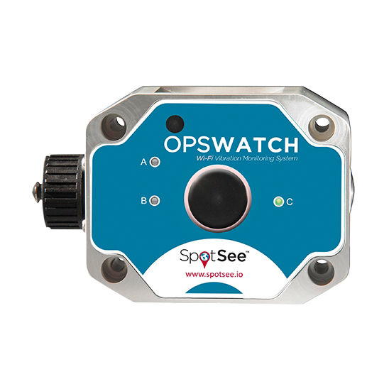 Shockwatch spotsee opswatch monitor trillingen